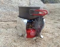 IsoButane: 7:45 to rolling boil